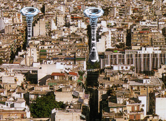tower of winds concept purifies city air through e