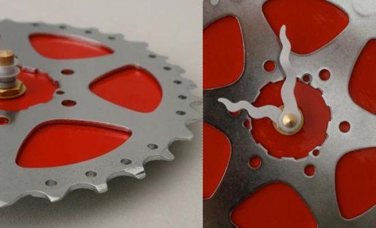 upcycled bike gear clock 2