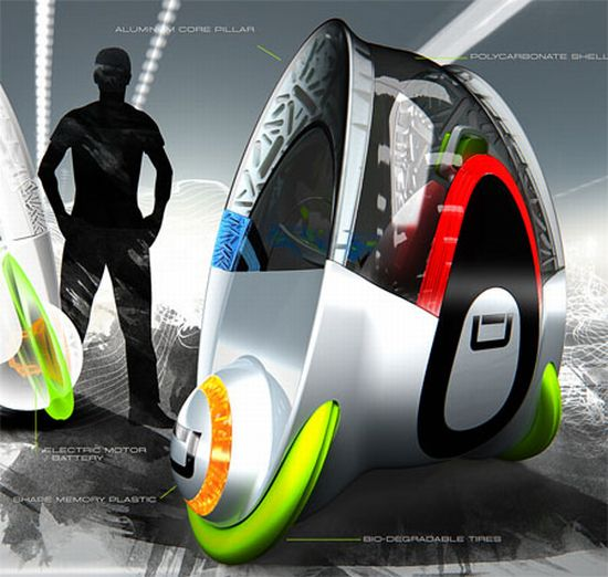 uvo concept fuel cell powered car 3