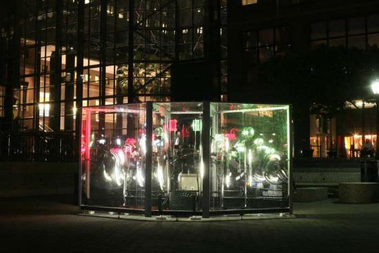 weather beacon kinetic outdoor sculpture by erik g