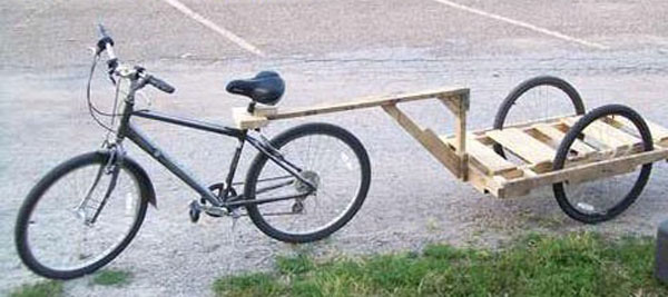 Wooden Pallet Bicycle Trailer