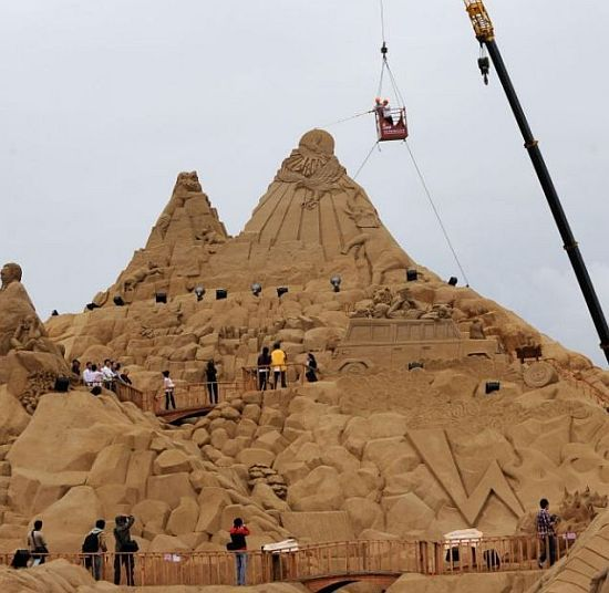 world record breaking sand sculpture reaches 2243