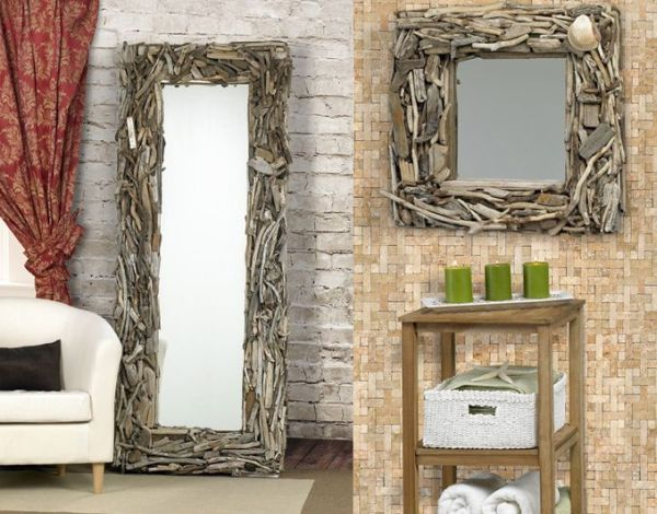 Decorate your walls the green way with Driftwood Mirrors - Green ...