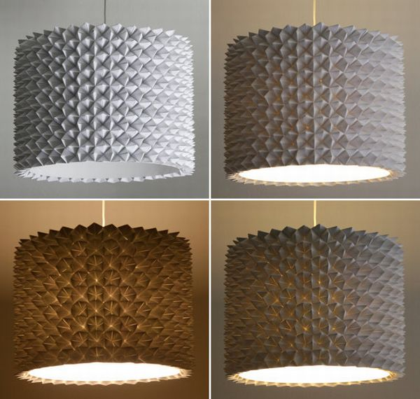 Multifaceted drum lamp shade is a perfect style statement green designed by a user zipper8lighting at etsy this multifaceted drum lamp shade is a simple value addition to any household paper lampshades have been aloadofball Images
