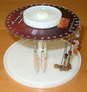 CD Spindle Earring Holder