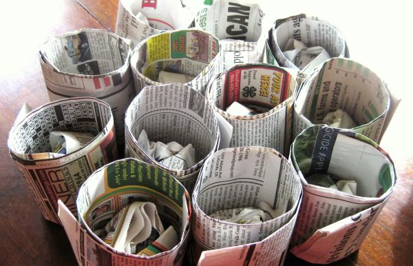 diy-newspaper-pots