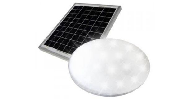 Solar powered daylight simulator