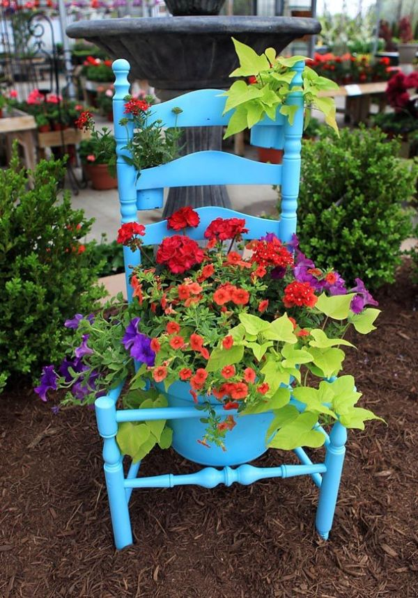 Old chairs in garden