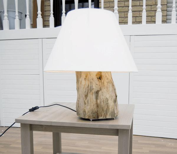tree stump Table lamp