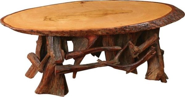 tree stumps Coffee table