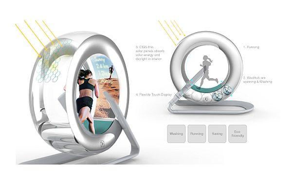 The Wheel Washing Machine Concept