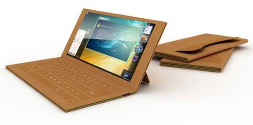 The recyclable paper laptop