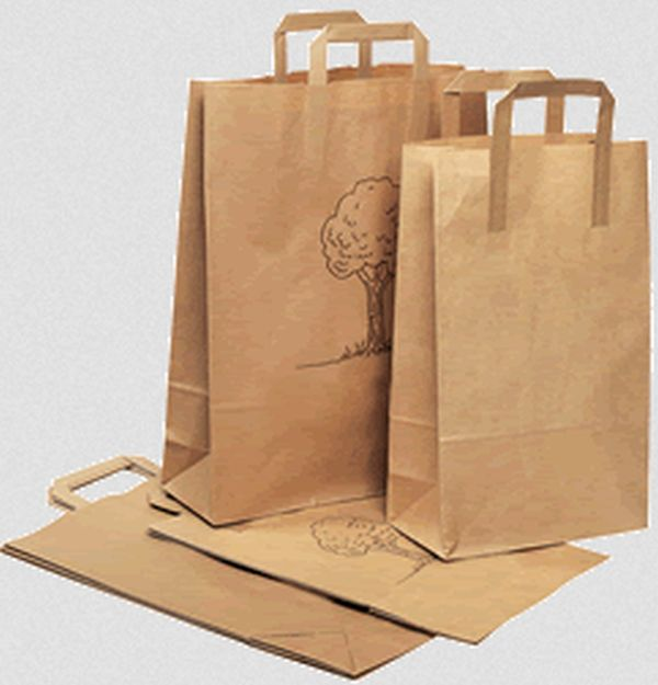 Recycled paper totes