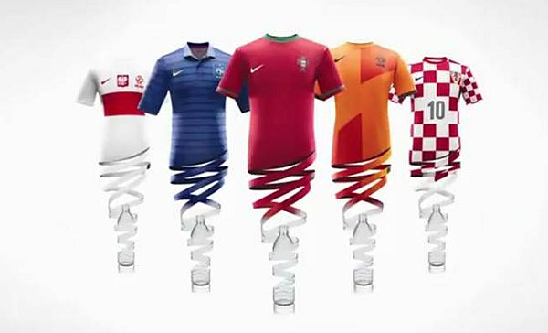 soccer shirts made out of plastic bottles