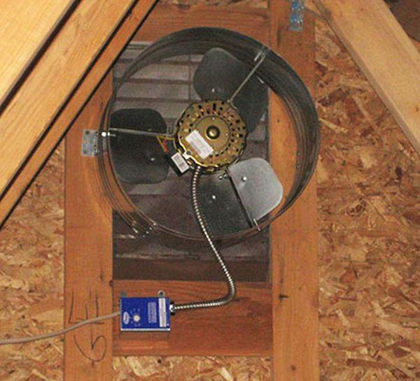 Install an attic fan