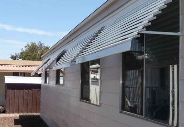 Install awnings over windows