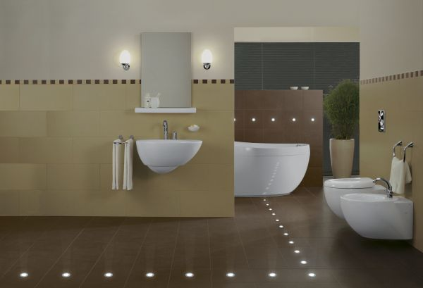 LEDs in bathroom