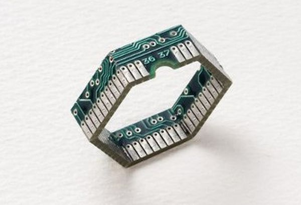 Recycled electronic jewelry