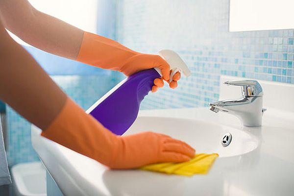cleaning Bathroom