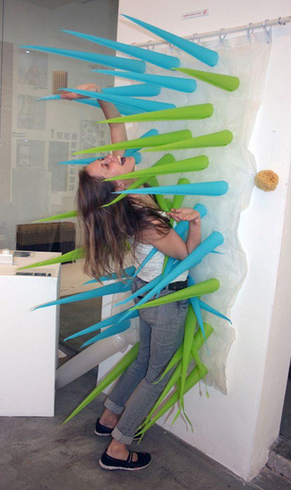 Green Warrior shower curtain