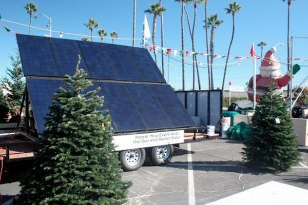 Solar Powered Christmas Tree