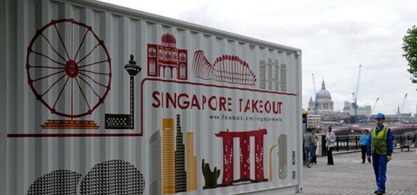 Take-Out Pop-Up Shipping Container Restaurant, Singapore