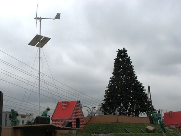Wind powered Christmas trees