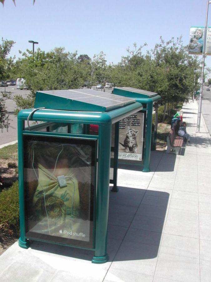 Solar Powered Bus Stops in California