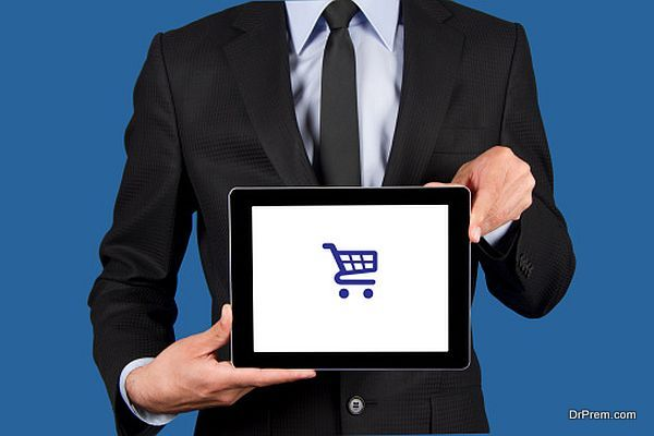 Online Shopping Concept on Tablet Pc Screen