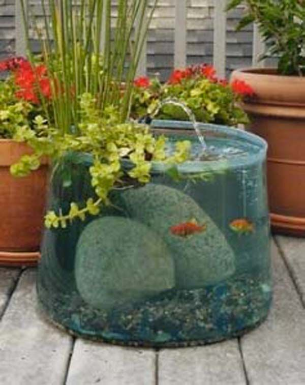 Garden Ponds from Repurposed Buckets