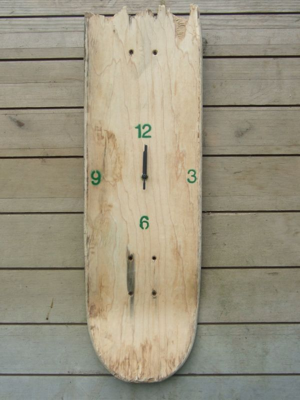 Unique Broken Skateboard Clock by Redtail