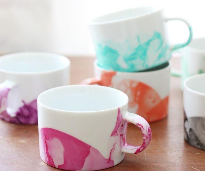 Marbled mugs
