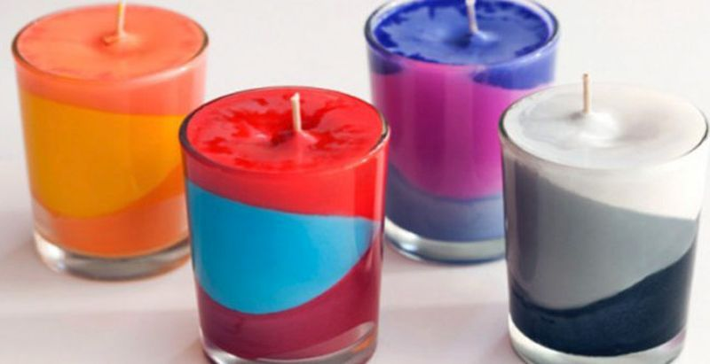 Make your own candles using old crayons