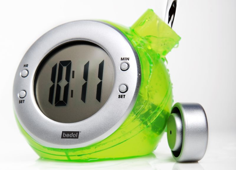 Water-Powered Travel Alarm Clock