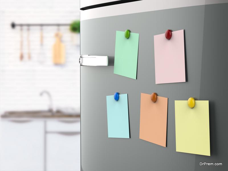 Colorful fridge magnets