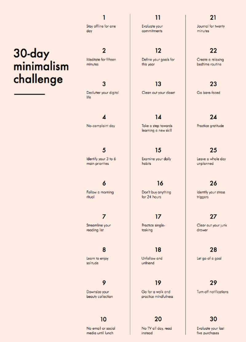 Blogger Anuschka Rees founded the 30-Day Minimalism Challenge