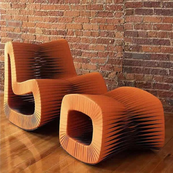 seat belt lounge chair by Nuttapong Charoenkitivarakorn
