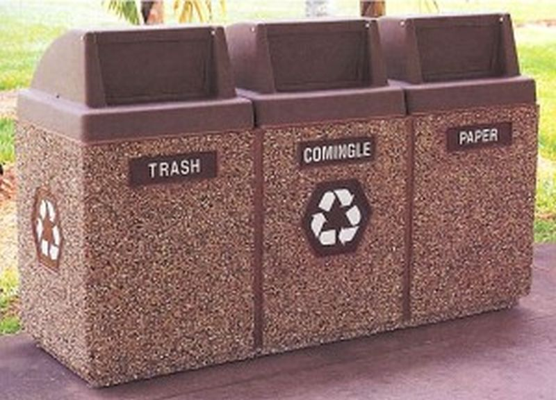 Recycled trash bins
