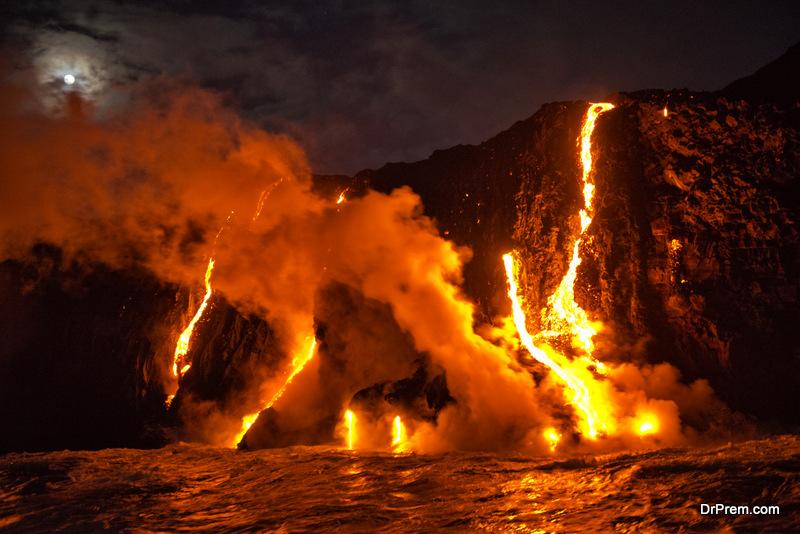volcanic eruptions caused the risingof temperature