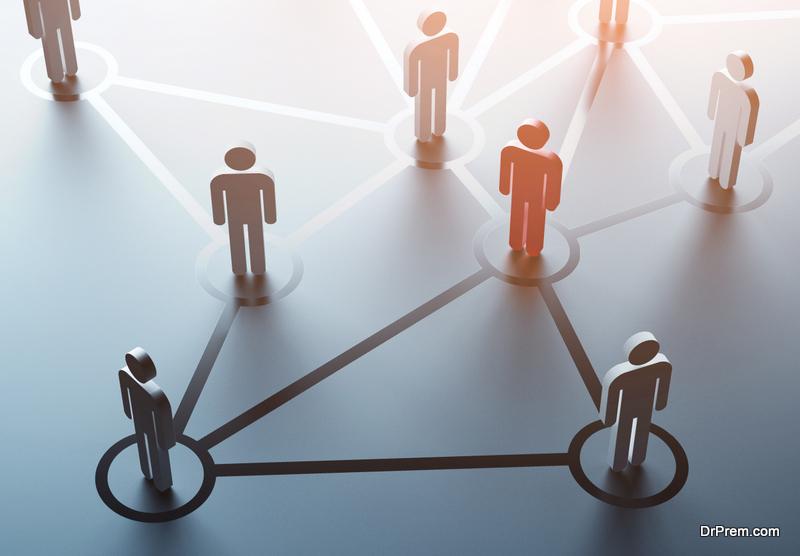 Make groups on social media