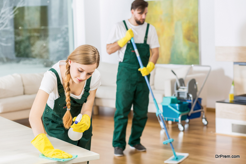 A range of cleaning services