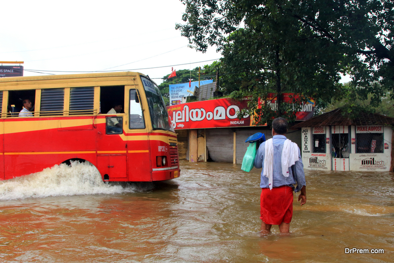 Floods devastated Kerala in India