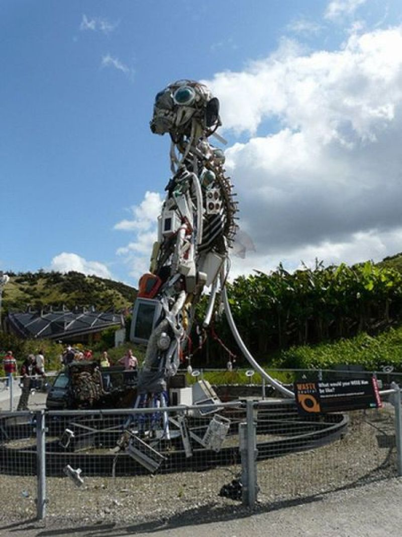 WEEE Man Sculpture of Recycled Monstrosity