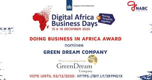 Greendreamcompany nominated doing business in africa 2020 award NABC Kingdom of the Netherlands