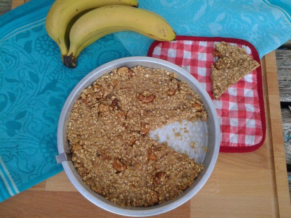 Banaan-havermoutkoek