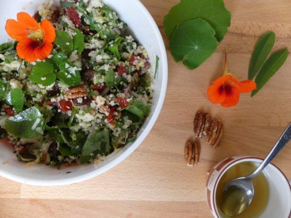 couscous salade met tuinkruiden