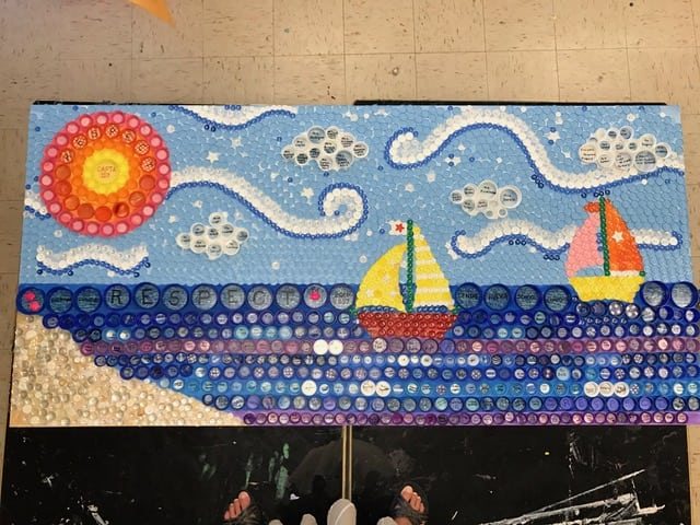 """""""Respect"""" mural created with Centre Avenue Elementary School in East Rockaway, NY"""