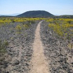 Trail to the crater
