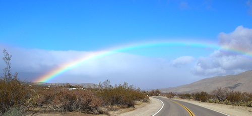 Blue Sky Rainbow, Shelter Valley