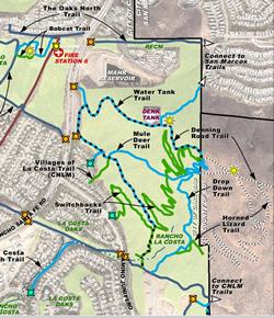 Portion of La Costa Preserve Trail map